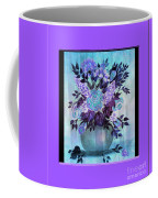 Flowers In A Vase With Lilac Border Coffee Mug