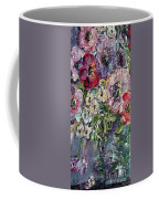 Flowers In An Antique Blue Vase Coffee Mug