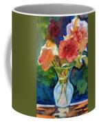 Flowers In Glass Vase Coffee Mug