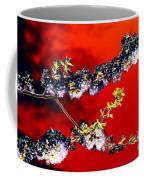 Flowers In Red Coffee Mug