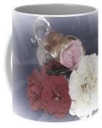 Flowers In Silver Coffee Mug