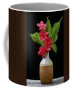 Flowers Isolated On Black Background Coffee Mug