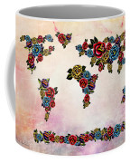 Flowers Map  Coffee Mug