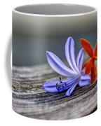 Flowers Of Blue And Orange Coffee Mug