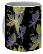 Flowers On Black Coffee Mug