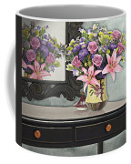 Flowers Table And Mirror In The Foyer Still Life Coffee Mug