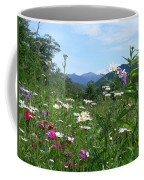 Flowers View Of The Mountains Coffee Mug
