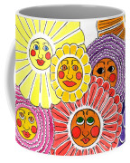 Flowers With Faces Coffee Mug