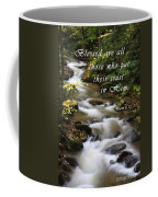 Flowing Creek With Scripture Coffee Mug
