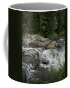 Flowing Stream With Waterfall In Vermont Coffee Mug
