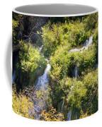 Flowing Water On Falling Lakes Of Plitvice Coffee Mug