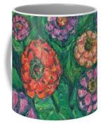 Flowing Zinnias Coffee Mug