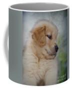 Fluffy Golden Puppy Coffee Mug by Susan Candelario