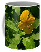 Flying Bee And Wood Poppy Coffee Mug