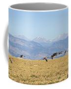 Flying Canadian Geese Rocky Mountains 2 Coffee Mug