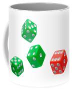 Flying Craps Dice  Coffee Mug