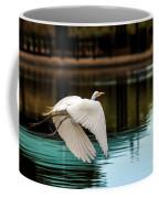 Flying Egret Coffee Mug by Robert Bales
