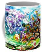 Flying Fish Tree And Bubbles Coffee Mug