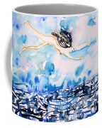 Flying Over Troubled Waters Coffee Mug