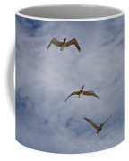 Flying Pelicans Coffee Mug