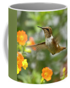 Flying Scintillant Hummingbird Coffee Mug