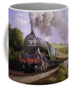 Flying Scotsman On Broadsands Viaduct. Coffee Mug