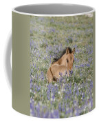 Foal In The Lupine Coffee Mug by Carol Walker