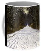 Fog On The Winter Macomb Orchard Trail Coffee Mug