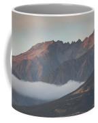 Fog Over Mountain At Dawn, Aorakimount Coffee Mug