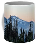 Mt. Rainier's Foggy Sunset Coffee Mug