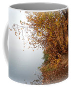 Foggy Autumn Riverbank Coffee Mug