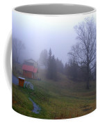 Foggy Cabin And Hillside Coffee Mug