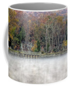 Foggy Fall On Maryland Towpath Coffee Mug
