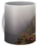 Foggy Hamnoy Rorbu Village Coffee Mug