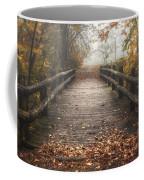 Foggy Lake Park Footbridge Coffee Mug