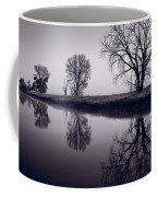 Foggy Morn Bw Coffee Mug by Steve Gadomski