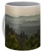 Foggy Morning Over Waterpocket Fold Coffee Mug