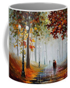 Foggy Morning - Palette Knife Contemporary Landscape Oil Painting On Canvas By Leonid Afremov - Size Coffee Mug