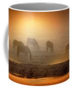 Foggy Morning Pasture Time Coffee Mug