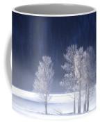 Foggy Sunrise In Yellowstone National Park Coffee Mug