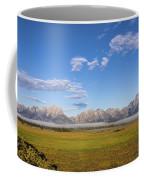 Foggy Sunrise On The Tetons - Grand Teton National Park Wyoming Coffee Mug