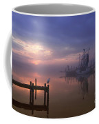Foggy Sunset Over Swansboro Coffee Mug by Benanne Stiens