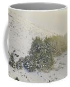 Foggy Sunset Retro Coffee Mug