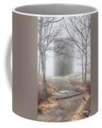 Foggy View Of The Summit Of Mount Battie Coffee Mug