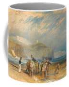 Folkestone Harbour And Coast To Dover Coffee Mug