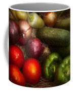 Food - Vegetables - Onions Tomatoes Peppers And Cucumbers Coffee Mug