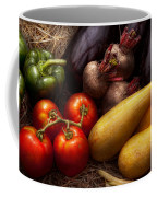 Food - Vegetables - Peppers Tomatoes Squash And Some Turnips Coffee Mug by Mike Savad