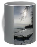 Foot Prints Along The Shore Coffee Mug