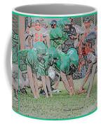 Football Playing Hard 3 Panel Composite Digital Art 01 Coffee Mug