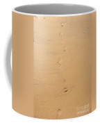 Footprints In The Sand Coffee Mug by Pixel  Chimp